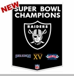 Oakland Raiders Super Bowl Dynasty Banner