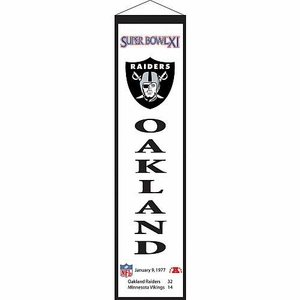 Oakland Raiders Super Bowl XI Banner - Click to enlarge