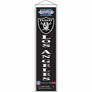 Raiders Super Bowl XVIII Banner - Click to enlarge