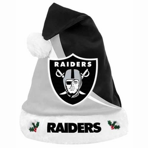 Oakland Raiders Swoop Logo Santa Hat - Click to enlarge