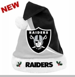 Oakland Raiders Swoop Logo Santa Hat