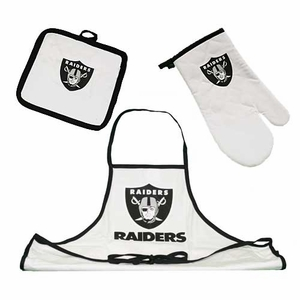 Oakland Raiders Tailgate 3 piece Combo Set - Click to enlarge