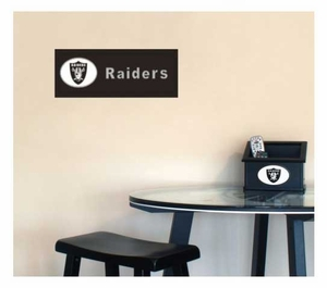 Oakland Raiders Team Name Plaque - Click to enlarge