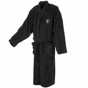 Oakland Raiders Mens Plush Robe - Click to enlarge