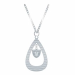 Oakland Raiders Tear Drop Necklace