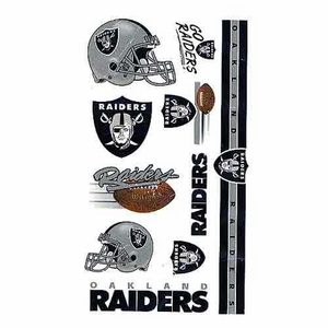 Oakland Raiders Temporary Tattoo Sheet - Click to enlarge