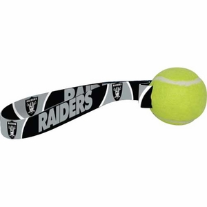Oakland Raiders Tennis Ball Toss Dog Toy - Click to enlarge