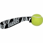 Oakland Raiders Tennis Ball Toss Dog Toy