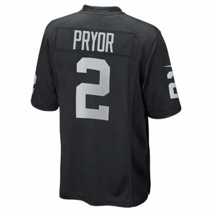 Oakland Raiders Terrelle Pryor Toddler Black Game Jersey - Click to enlarge