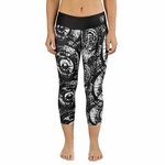 Oakland Raiders Thematic Print Capri
