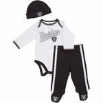 Oakland Raiders Three Pack Footed Set