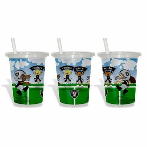 Oakland Raiders Three Pack Sip N Go Toss Away Cup - Click to enlarge