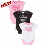 Oakland Raiders Three Pack Sweetheart Set