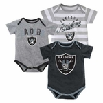 Oakland Raiders Three Piece Field Goal Creeper Set