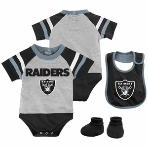 Oakland Raiders Three Piece Little Player Set - Click to enlarge