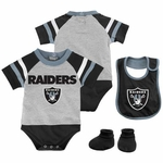 Oakland Raiders Three Piece Little Player Set