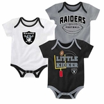 Oakland Raiders Three Points Bodysuit Set