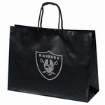 Oakland Raiders Tiara Large Logo Black Gift Bag