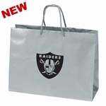 Oakland Raiders Tiara Large Logo Silver Gift Bag