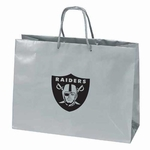Raiders Tiara Large Logo Silver Gift Bag