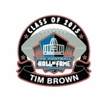 Oakland Raiders Tim Brown Hall of Fame Lapel Pin