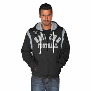 Oakland Raiders TKO Full Zip Hood - Click to enlarge