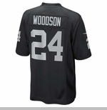 Oakland Raiders Toddler Charles Woodson Black Game Jersey