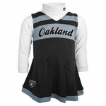 Oakland Raiders Toddler Cheer Jumper Set