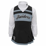 Raiders Toddler Cheerleader Jumper