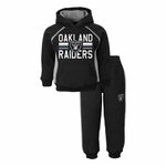 Oakland Raiders Toddler Fan Fleece Set