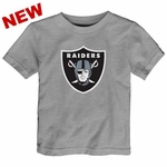 Oakland Raiders Toddler Heather Logo Tee