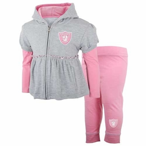 Oakland Raiders Toddler Pink Hoodie and Pant Set - Click to enlarge