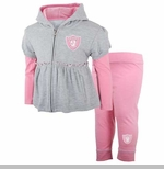 Oakland Raiders Toddler Pink Hoodie and Pant Set