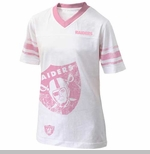 Oakland Raiders Toddler Pink Logo Jersey Tee