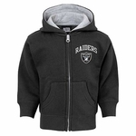 Oakland Raiders Toddler Pledge Full Zip Hood