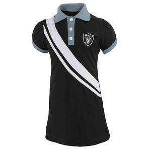 Oakland Raiders Toddler Polo Dress - Click to enlarge