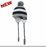 Oakland Raiders Toddler Tassle Knit Hat with Pom