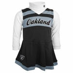 Oakland Raiders Toddler Two Piece Cheerleader Set