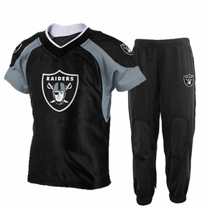 Oakland Raiders Toddler Two Piece Jersey and Pant Set - Click to enlarge