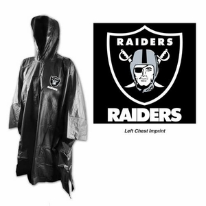 Oakland Raiders Tote Rain Poncho - Click to enlarge