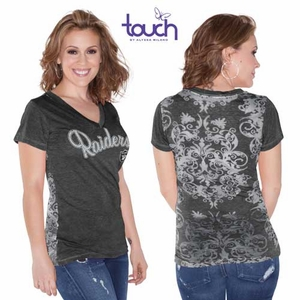 Oakland Raiders Touch by Alyssa Milano Audrey Tee - Click to enlarge