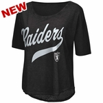 Oakland Raiders Touch By Alyssa Milano Double Play Tee