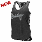 Oakland Raiders Touch by Alyssa Milano Flourish Tank