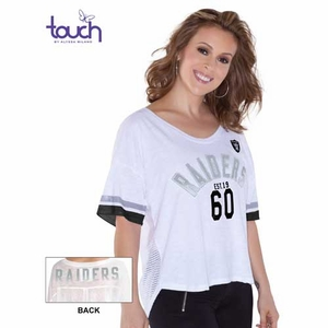 Oakland Raiders Touch by Alyssa Milano Hadley Tee - Click to enlarge