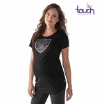Oakland Raiders Touch by Alyssa Milano Maternity Tee