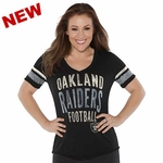 Oakland Raiders Touch by Alyssa Milano Motion Tee