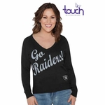 Oakland Raiders Touch By Alyssa Milano MVP Sweater