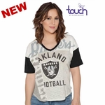 Oakland Raiders Touch By Alyssa Milano Power Play Tee