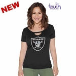 Oakland Raiders Touch by Alyssa Milano Team Spirit Tee