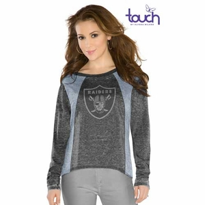 Oakland Raiders Touch by Alyssa Milano Vivian Tee - Click to enlarge
